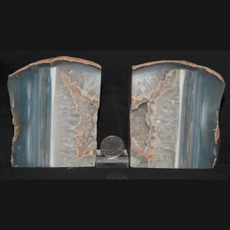 Geode Center Bookend Set 1013