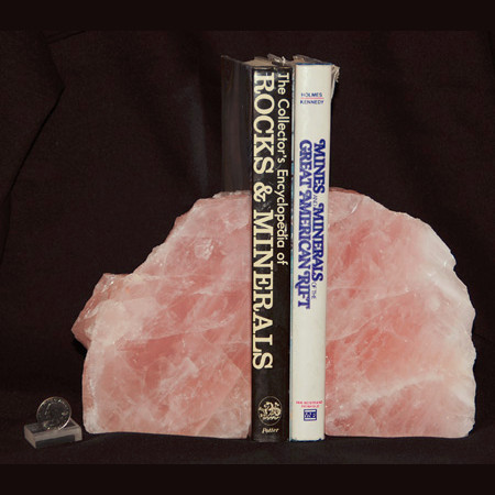 Rose Quartz Bookend Set 1017