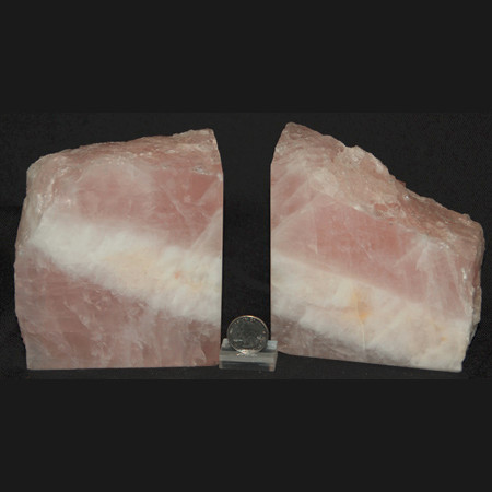 Rose Quartz Bookend Set 1018