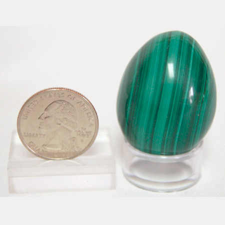 Malachite Polished Egg 1023