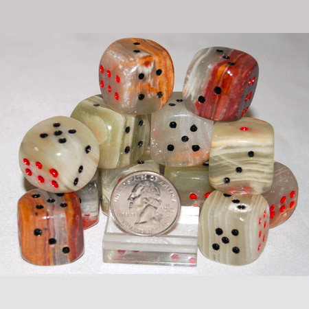 Pakistani Onyx Dice 1069