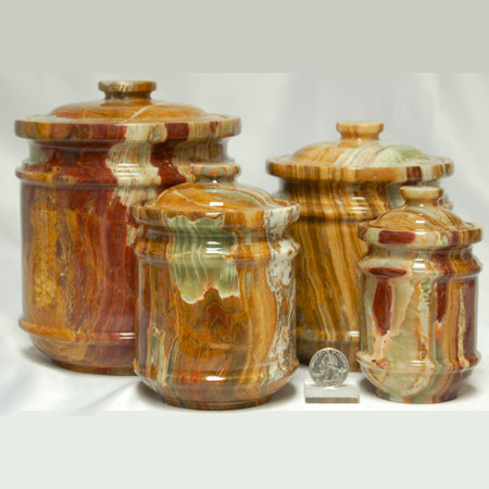 Pakistani Onyx Jar Set 1070